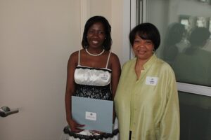 Jonell Nash with  recipient of the Edna Lewis Memorial Scholarship (Les Dames d'Escoffier)