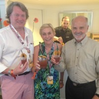 David and Melanie with Tom Bulleit, Bulleit Whiskey (2014 TOTC)