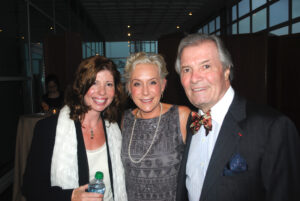 Melanie with Claudine and Jacques  Pépin at Les Dames d'Escoffier NY Dinner honoring Jacques (October  2011)