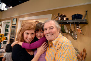 Jacques with daughter Claudia and granddaughter Shorey on the  set at KQED (www.KQED/org)