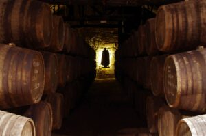Aging Room at Sandeman Port in Vila Nova de Gaia