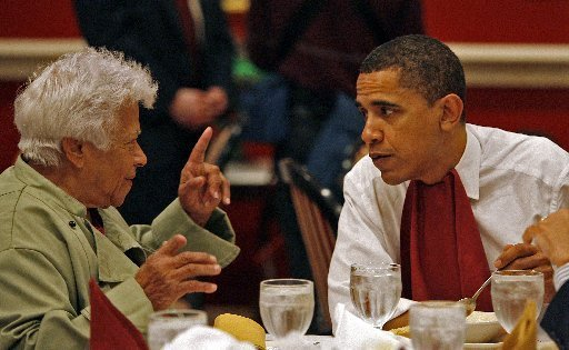 Leah Chase is said to have chided President Obama for putting hot sauce in his gumbo. (photo from Dooky Chase Restaurant website)