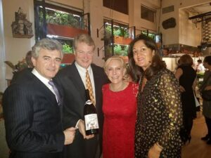 With Franck and Anne Duboeuf at Bouley Botanical