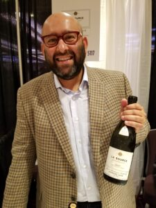 Rajat Parr with his new wine from Oregon