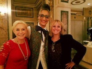 With Power Lunch Emcee Carla Hall and Alison Price Becker