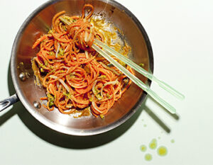 Hungry Root's Carrot Noodles with Tangy Sriracha Peanut Photo: Mark_Jordan