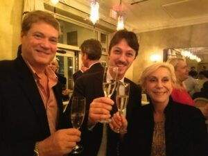 David and Melanie with Emiliano Bernardi November 28 at L'Escale Restaurant in Greenwich, CT. The dinner was hosted by Teresa Rodgers, proprietor of Horseneck Wines, a popular Greenwich based wine shop.