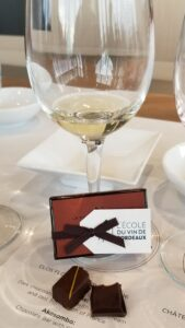 Tasting Bordeaux Wines and Chocolate