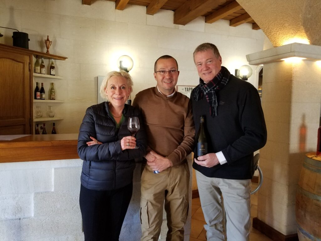 With Richard Maby, Domaine Maby