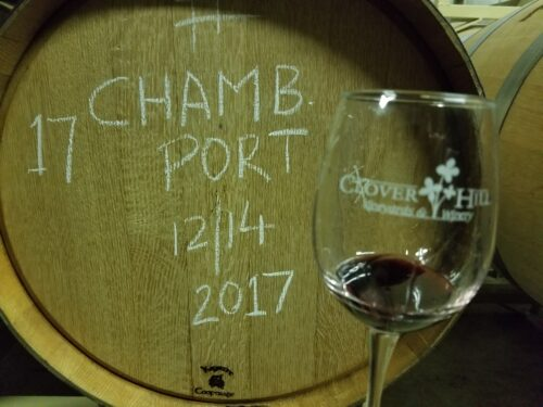 Chambourcin Port Barrel Tasting- Clover Hill Winery