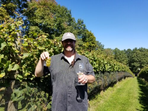 Winemaker Jeb Stebben at Maple Springs Vineyards