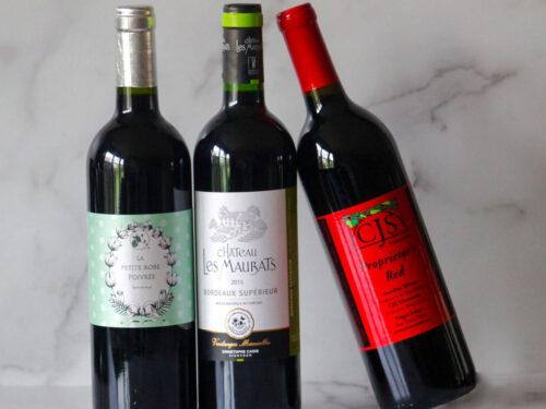Sample of Vegan Wines reds