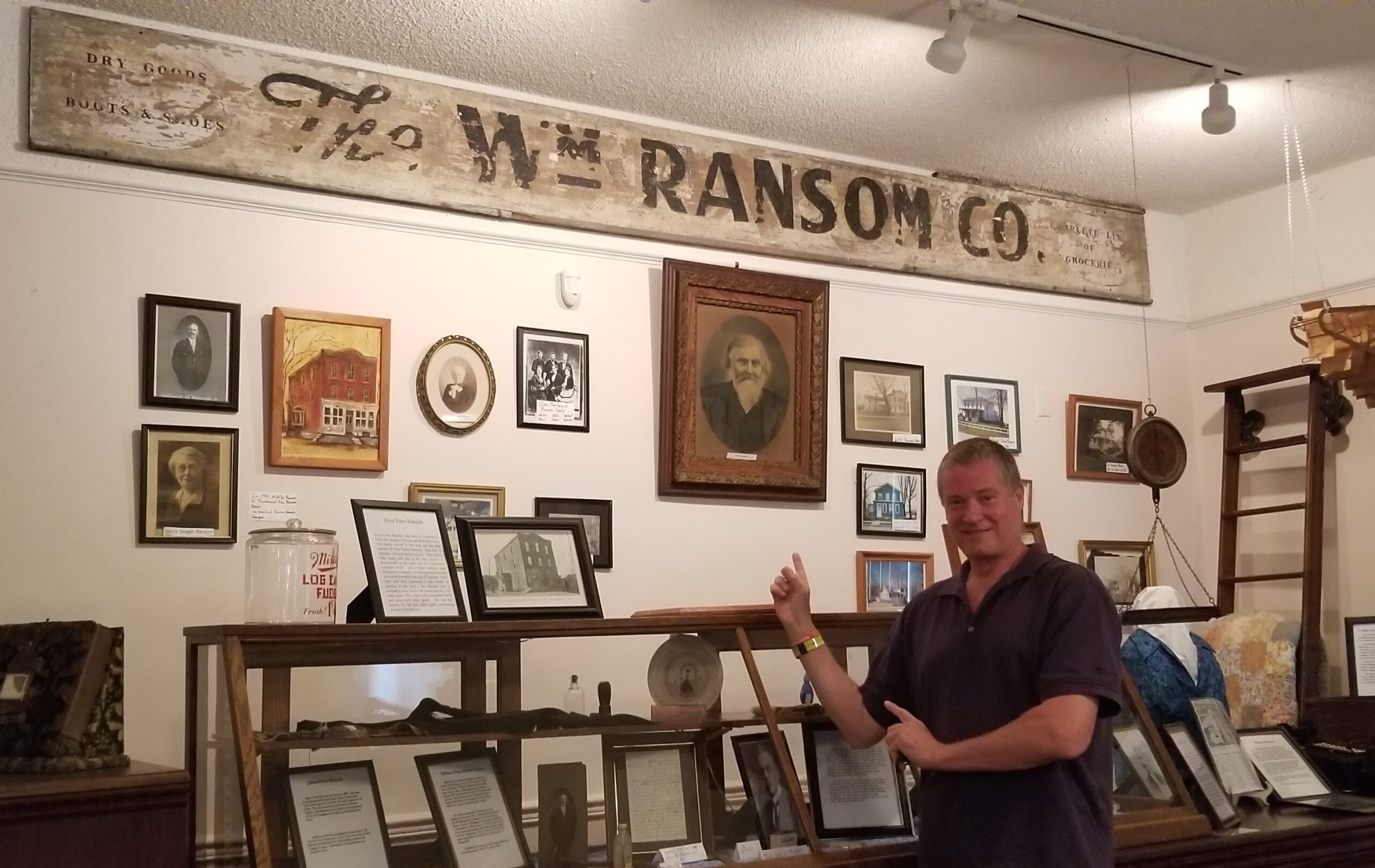 David at Ransomville Historical Society